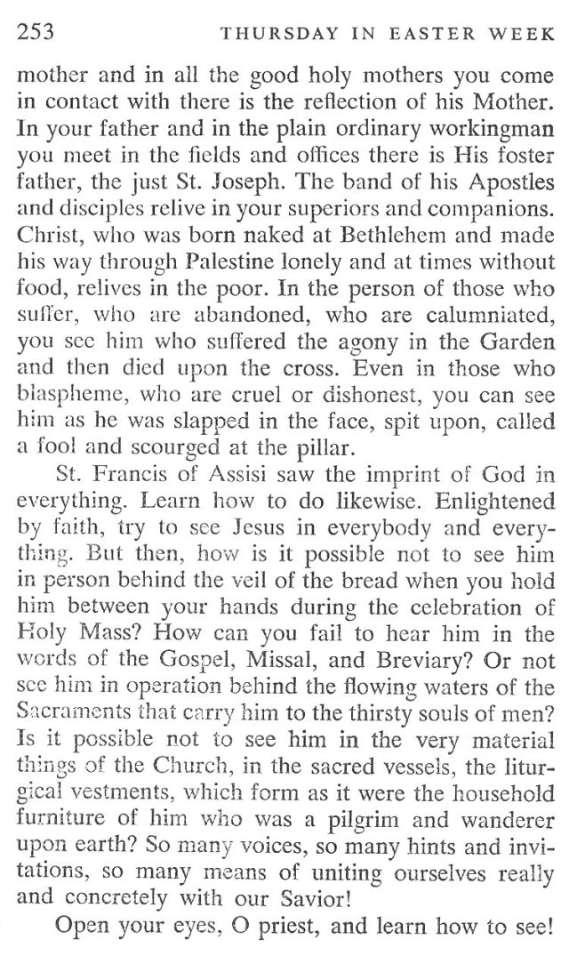 Easter Week Thursday Breviary Meditation 3