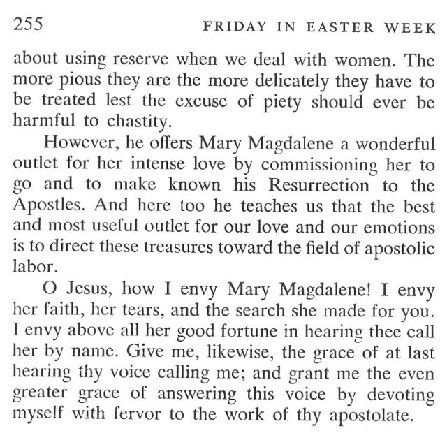 Easter Week Thursday Breviary Meditation 5