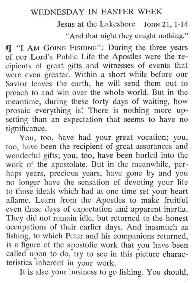 Easter Week Wednesday Breviary Meditation 1