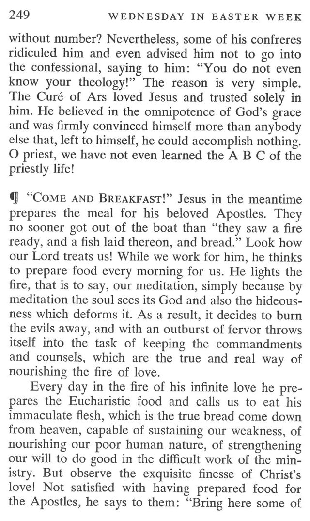 Easter Week Wednesday Breviary Meditation 4