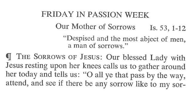 Friday Passiontide Breviary Meditation 1