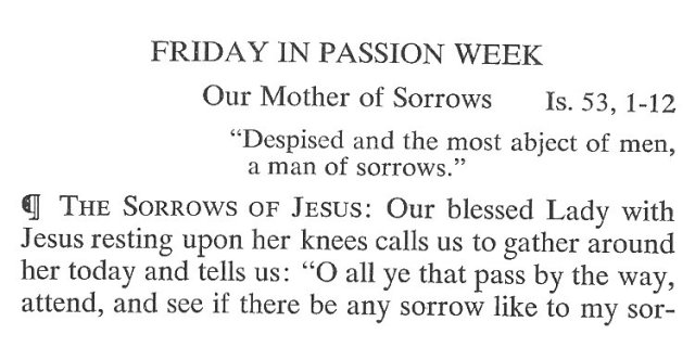 Friday Passiontide Breviary Meditation 1
