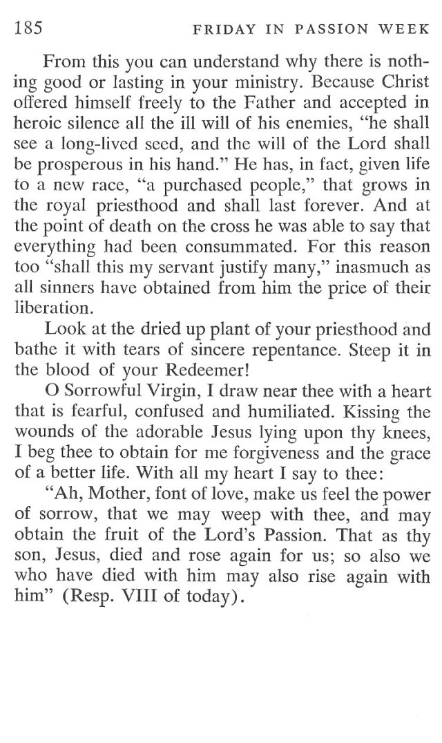 Friday Passiontide Breviary Meditation 6