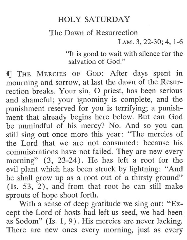 Holy Saturday Breviary Meditation 1