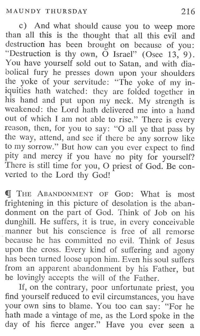 Maundy Thursday Breviary Meditation 4