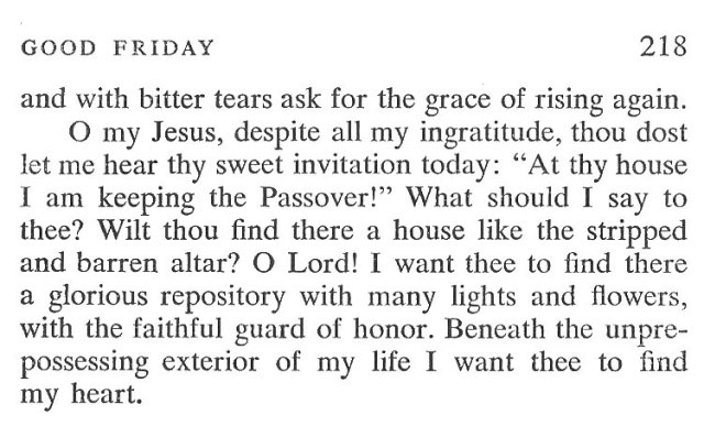 Maundy Thursday Breviary Meditation 6