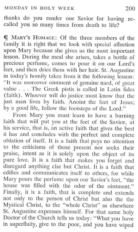 Monday Holy Week Breviary Meditation 3