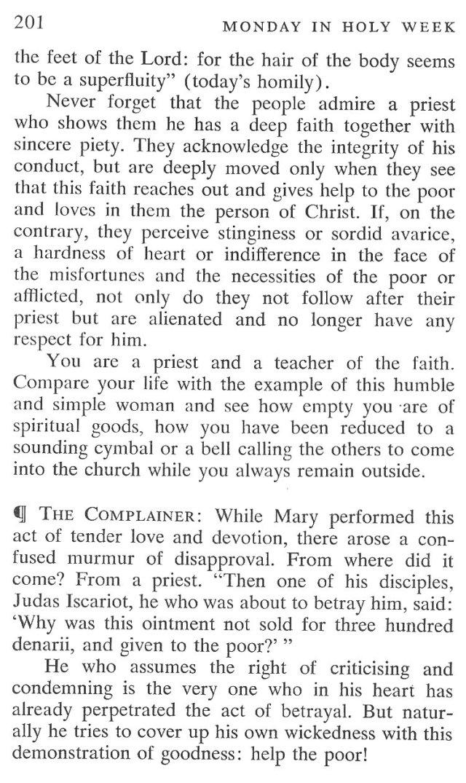 Monday Holy Week Breviary Meditation 4