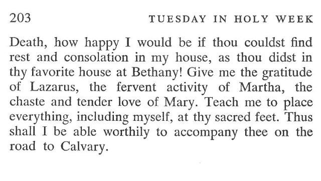 Monday Holy Week Breviary Meditation 6