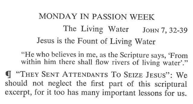 Monday Passiontide Breviary Meditation 1