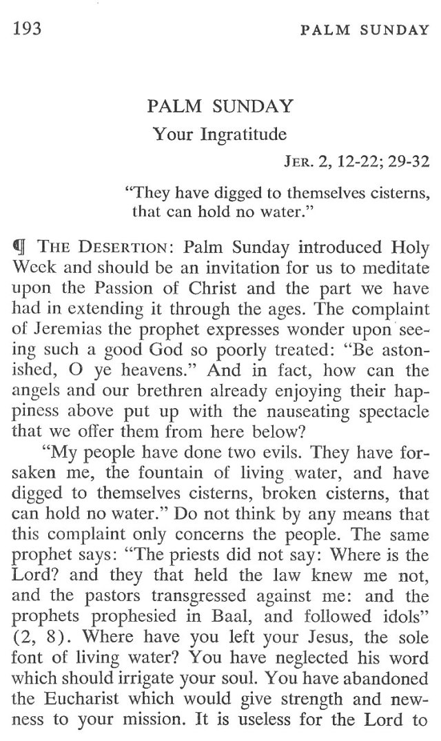 Palm Sunday Breviary Meditation 3