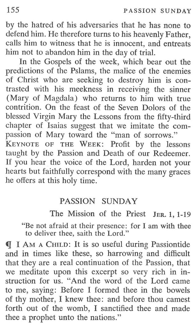 Passion Sunday Breviary Meditation 2
