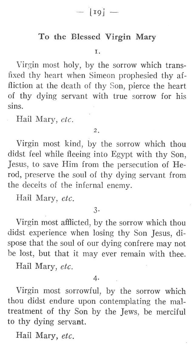 Prayers for the Dying to Blessed Virgin Mary 1