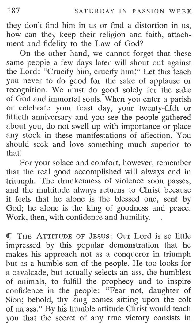 Saturday Passiontide Breviary Meditation 2