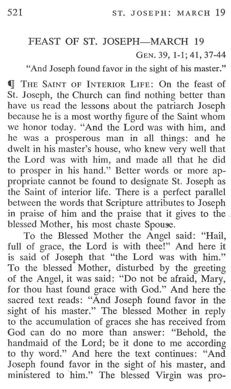 St. Joseph Breviary Meditation 1