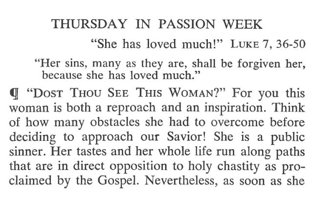 Thursday Passiontide Breviary Meditation 1