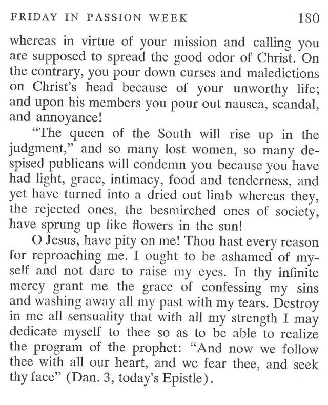 Thursday Passiontide Breviary Meditation 6