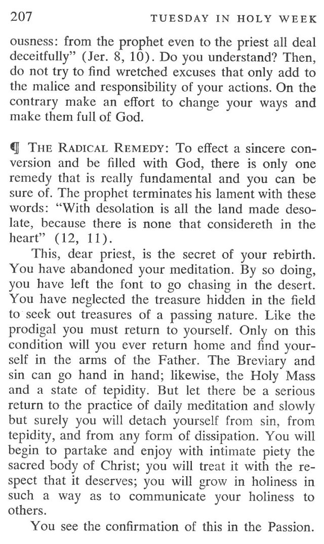 Tuesday Holy Week Breviary Meditation 5
