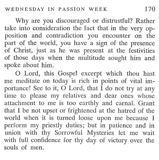 Tuesday Passiontide Breviary Meditation 6