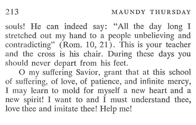 Wednesday Holy Week Breviary Meditation 6