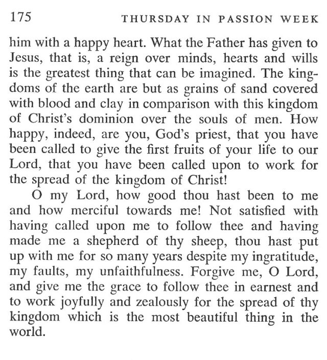 Wednesday Passiontide Breviary Meditation 6