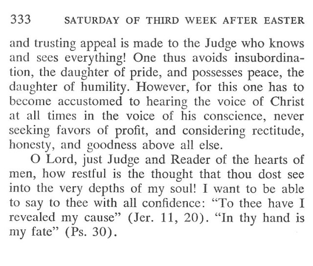 Friday Third Week after Easter Breviary Meditation 6