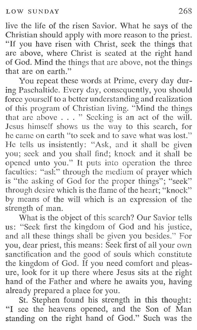 Low Sunday Breviary Meditation 3