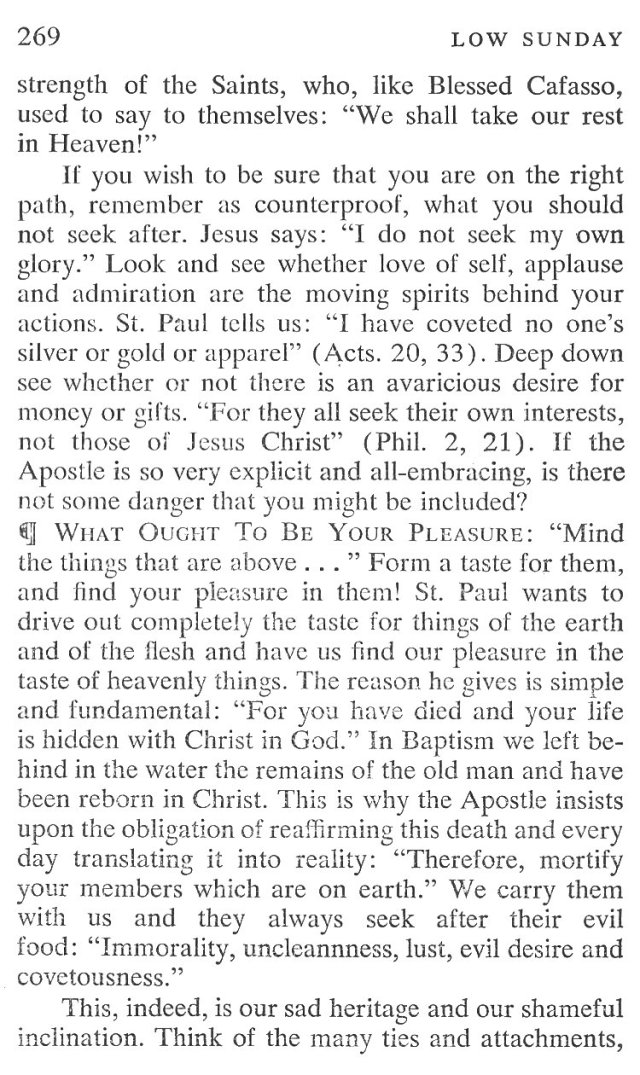Low Sunday Breviary Meditation 4