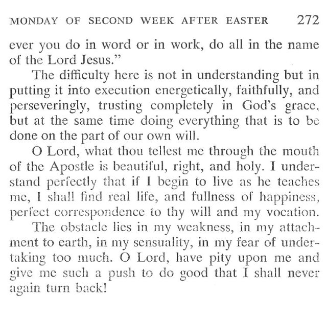 Low Sunday Breviary Meditation 7
