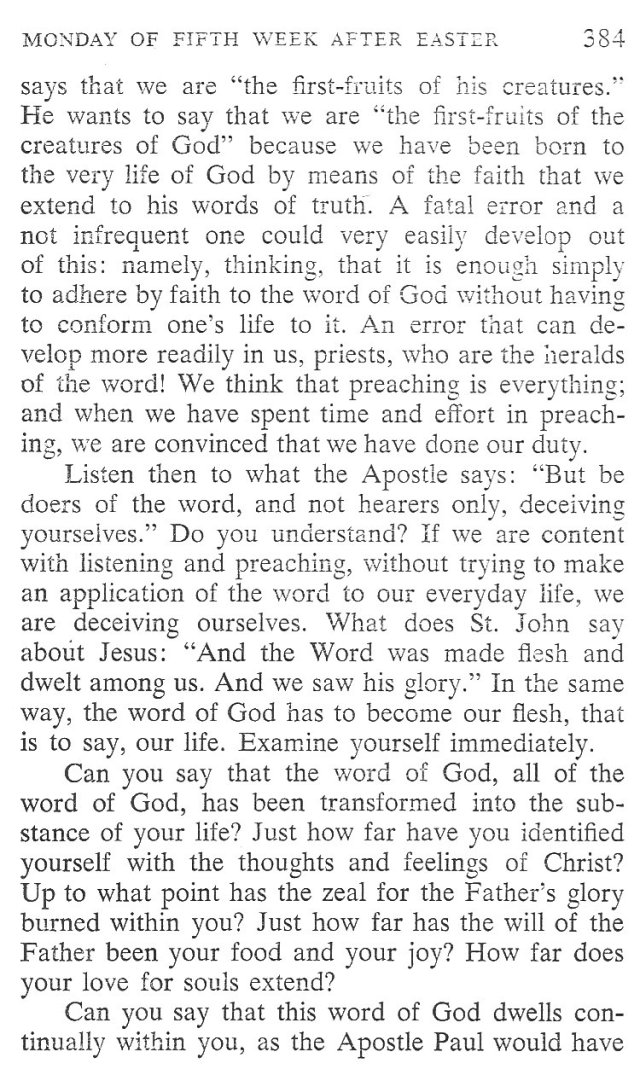 Monday Fifth Week after Easter Breviary Meditation 2