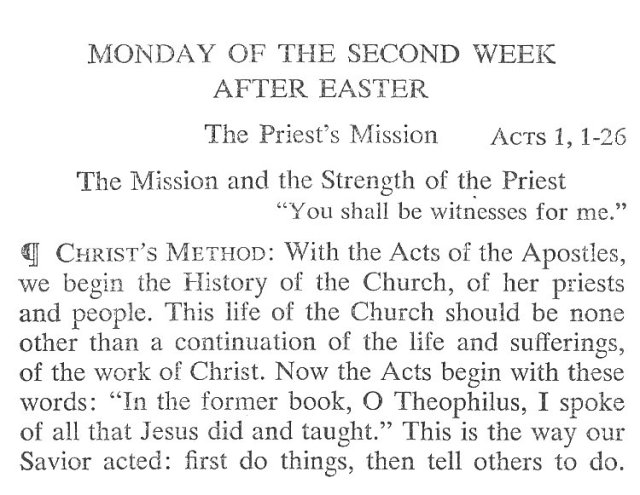 Monday Second Week Easter Breviary Meditation 1