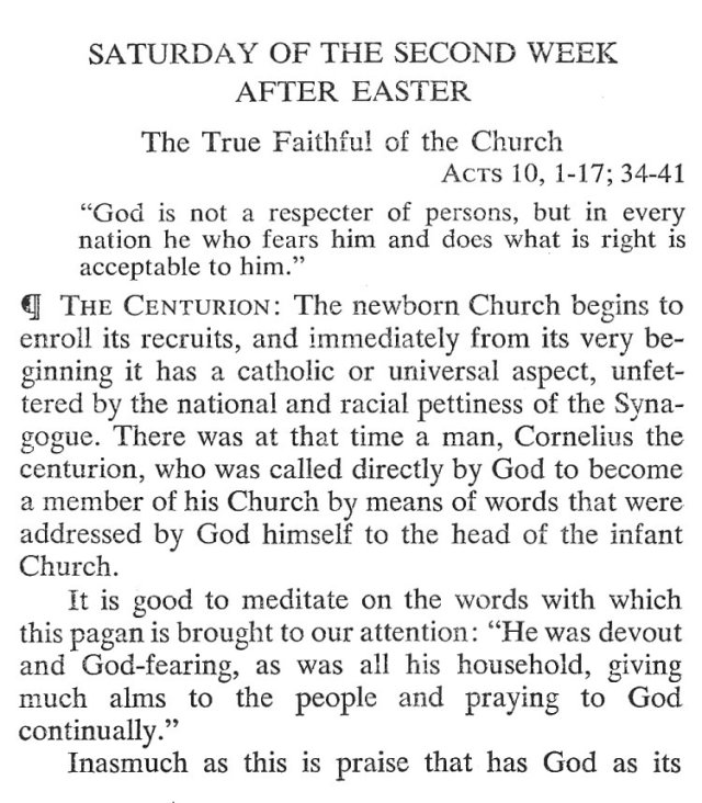 Saturday Second Week Easter Breviary Meditation 1