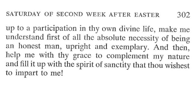 Saturday Second Week Easter Breviary Meditation 6