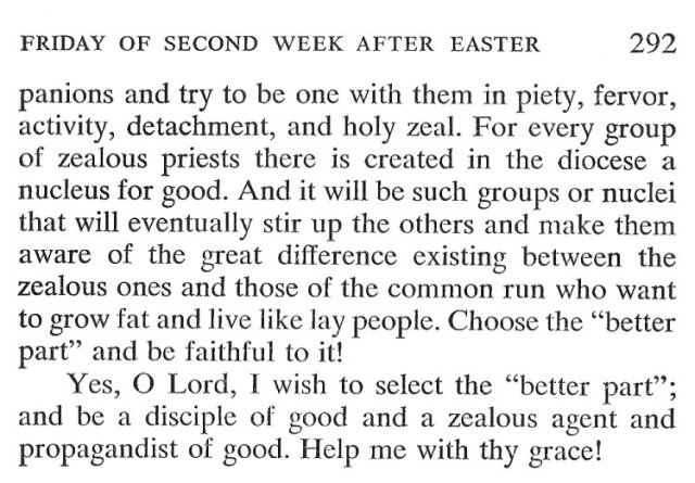 Thursday Second Week Easter Breviary Meditation 6