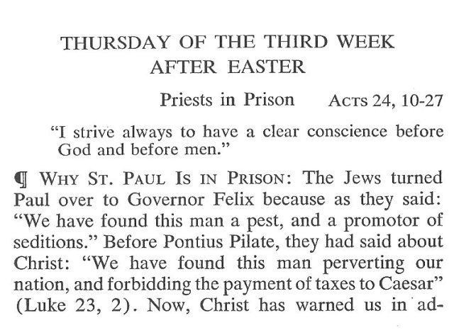 Thursday Third Week after Easter Breviary Meditation 1