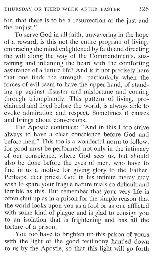 Thursday Third Week after Easter Breviary Meditation 4