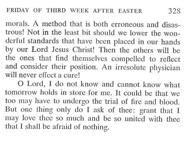 Thursday Third Week after Easter Breviary Meditation 6