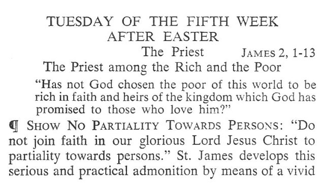Tuesday Fifth Week after Easter Breviary Meditation 1