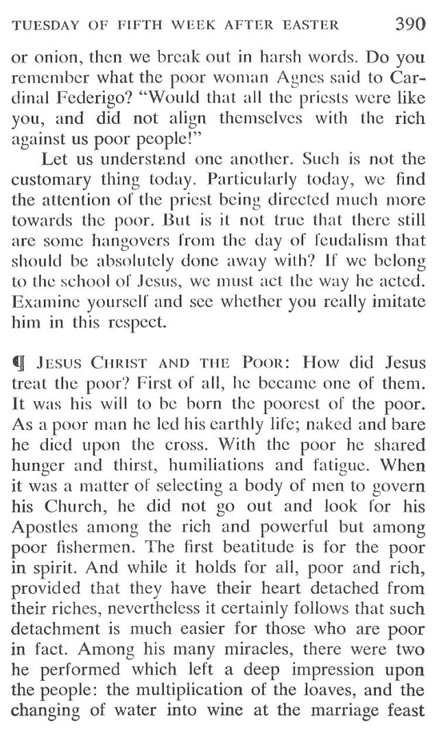 Tuesday Fifth Week after Easter Breviary Meditation 3