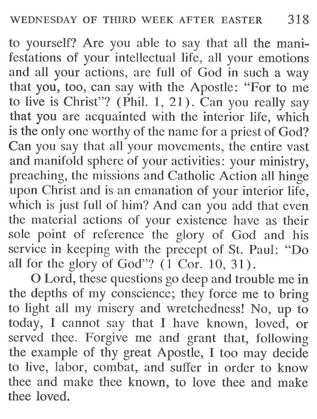Tuesday Third Week after Easter Breviary Meditation 5