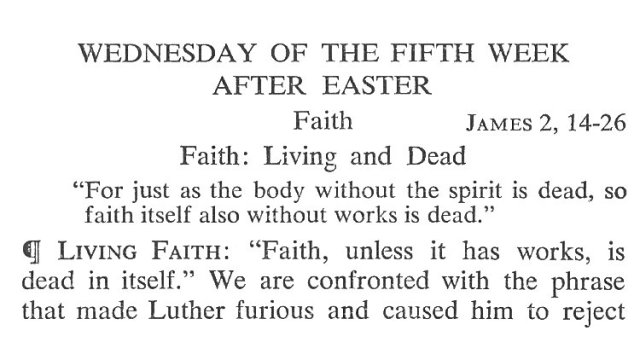 Wednesday Fifth Week after Easter Breviary Meditation 1
