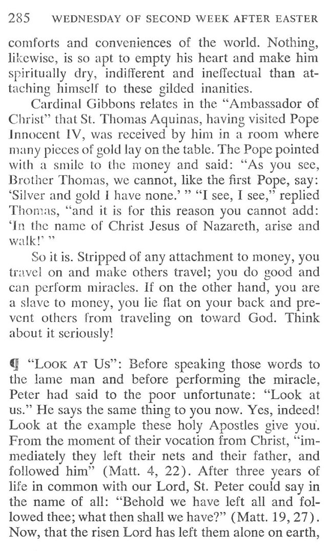 Wednesday Second Week Easter Breviary Meditation 4