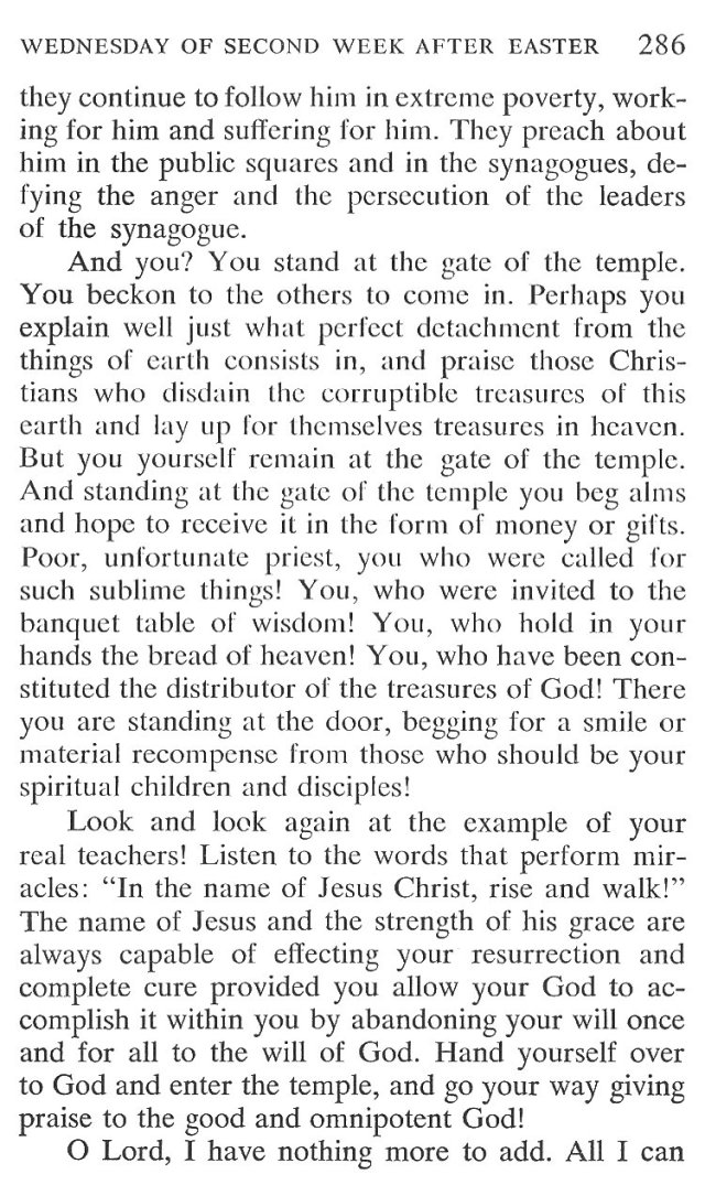 Wednesday Second Week Easter Breviary Meditation 5
