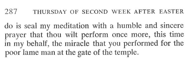 Wednesday Second Week Easter Breviary Meditation 6