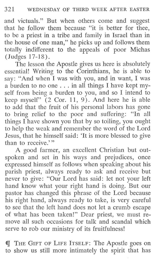 Wednesday Third Week after Easter Breviary Meditation 4