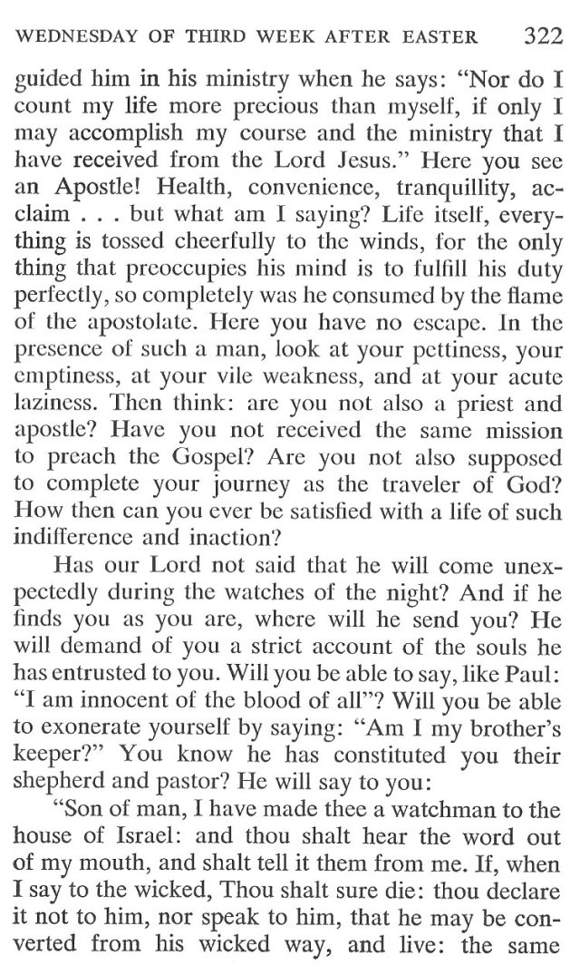 Wednesday Third Week after Easter Breviary Meditation 5