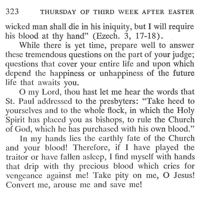 Wednesday Third Week after Easter Breviary Meditation 6