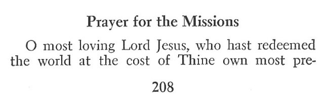 Prayer for Missions 1
