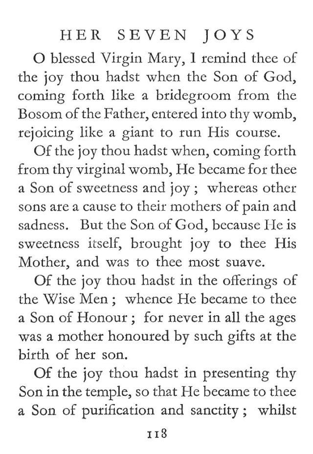 Seven Joys Blessed Virgin Saint Gertrude 1